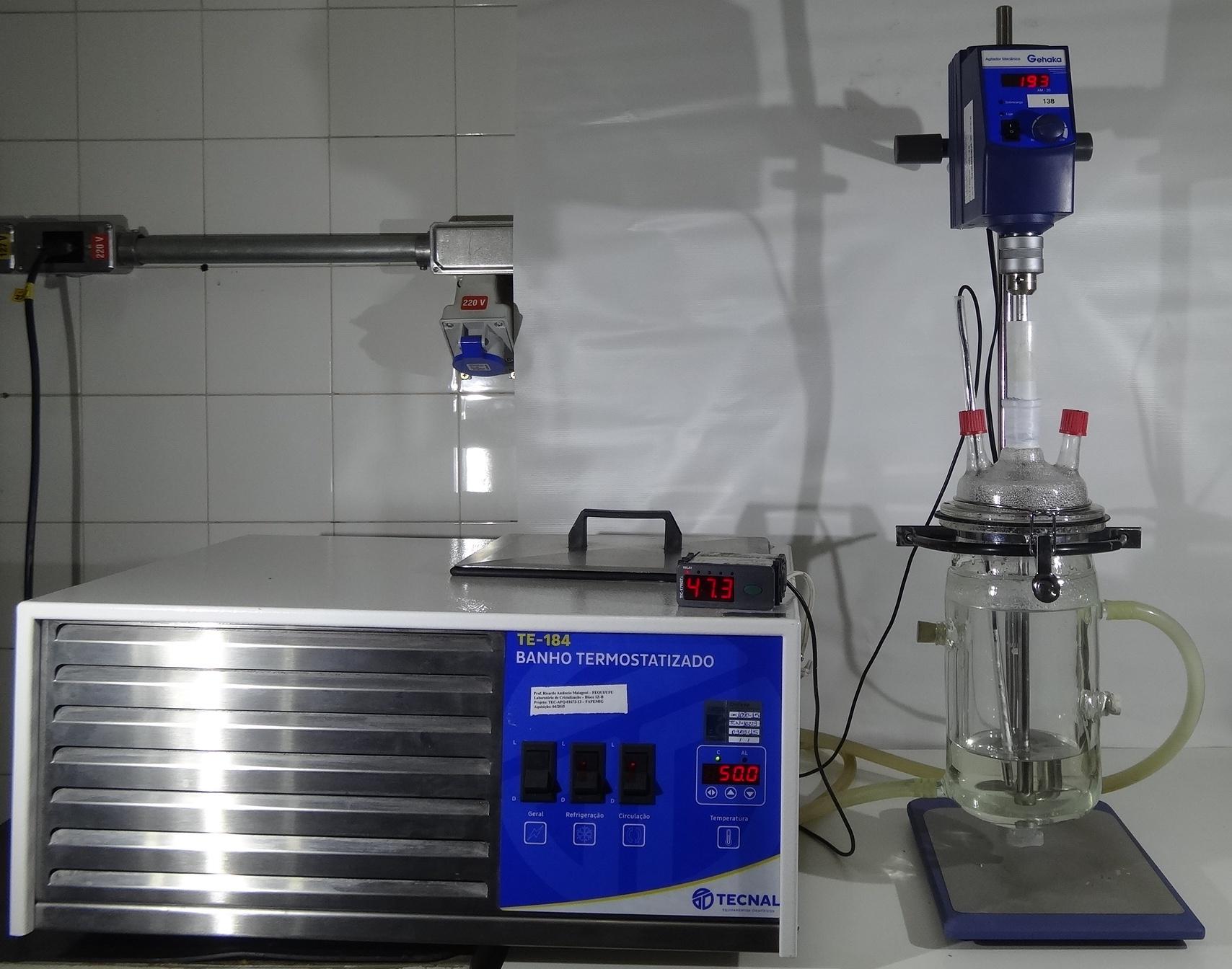 Unidade experimental de cristalização